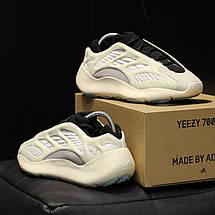 Кроссовки мужские Adidas yeezy 700 v3 белые (Top replic), фото 3