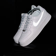 Кроссовки мужские Nike Air Force 1 ( Рефлектив ) белые (Top replic), фото 2