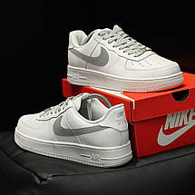 Кроссовки мужские Nike Air Force 1 ( Рефлектив ) белые (Top replic), фото 3