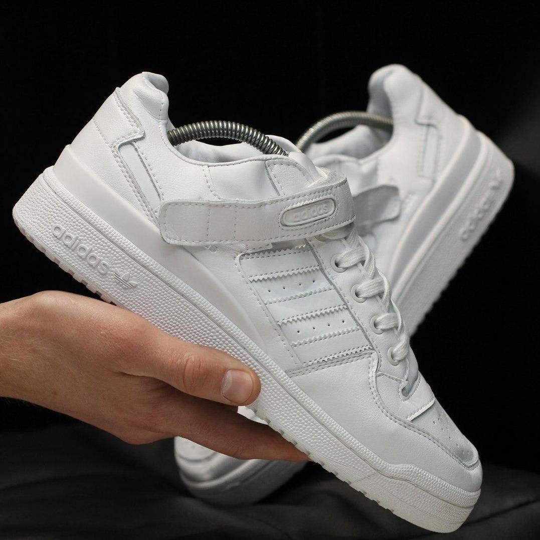 Кроссовки мужские Adidas Forum белые (Top replic)