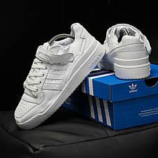 Кроссовки мужские Adidas Forum белые (Top replic), фото 3