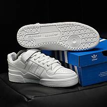 Кроссовки мужские Adidas Forum белые (Top replic), фото 2