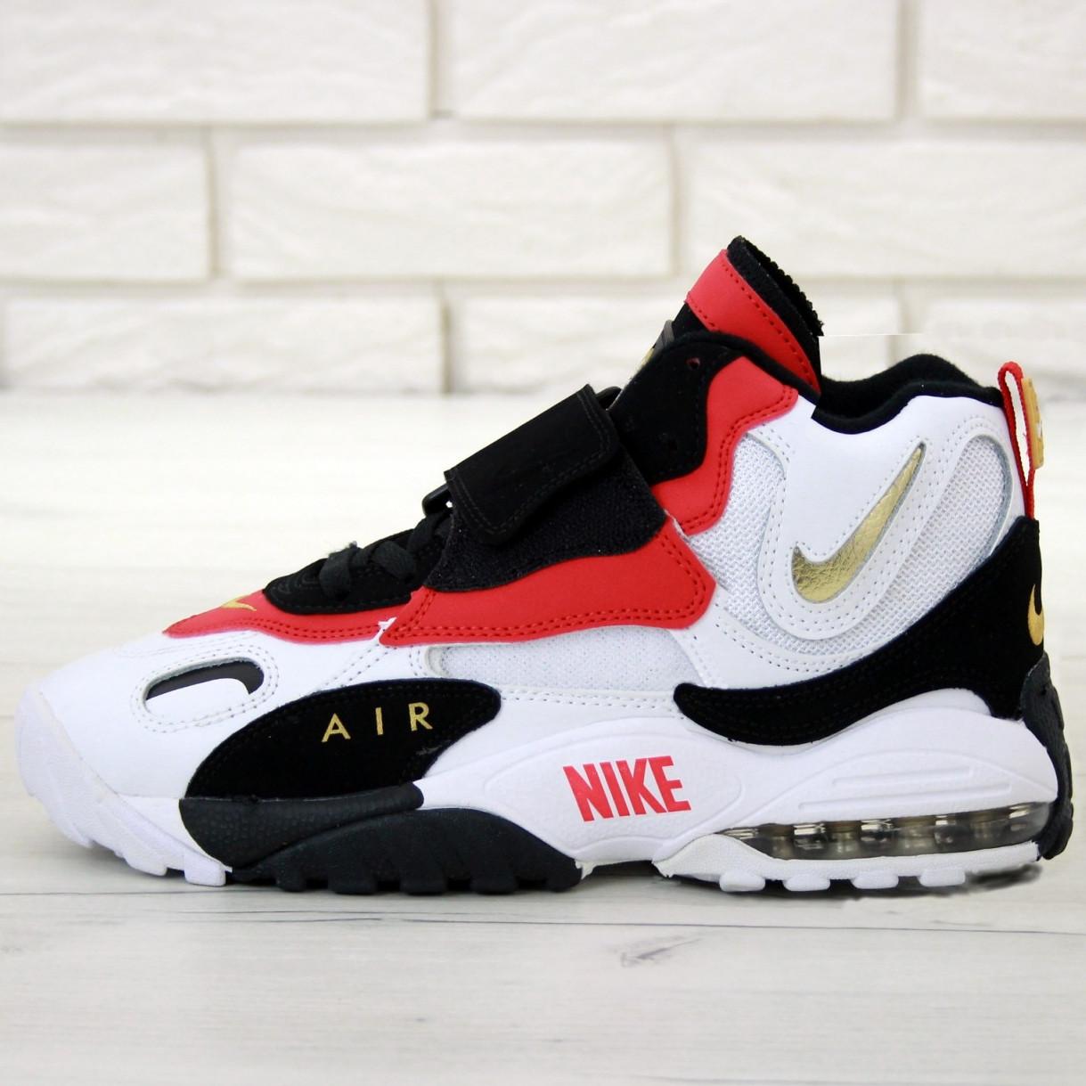 Кроссовки мужские Nike Air Max Speed Turf белые-красные (Top replic)
