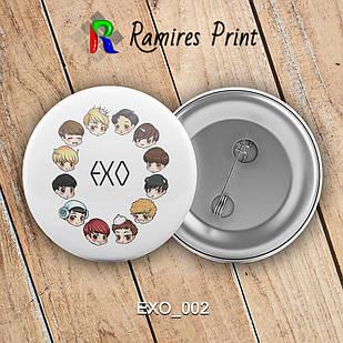 Значок K-Pop EXO 002