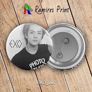 Значок K-Pop EXO 007
