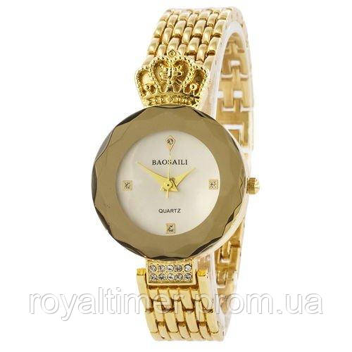 Baosaili Gold-White Женские часы наручные кварцевые золотые