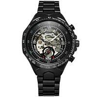 Winner 8067 Black-Silver Red Cristal Мужские наручные часы механические с автоподзаводом