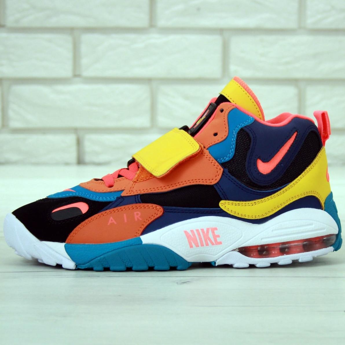 Кроссовки мужские Nike Air Max Speed Turf оранжевые-синие (Top replic)