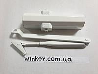 Доводчик дверной DORMA TS Compact с ножницами белый