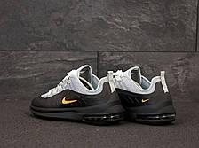 Кроссовки мужские Nike Air Max Axis серые-черные (Top replic), фото 3