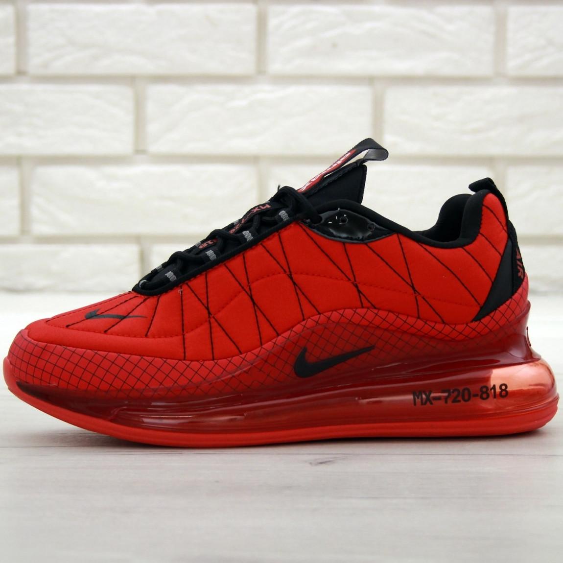 Кроссовки мужские Nike Air Max AM-720-818 красные (Top replic)