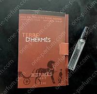 Пробник Hermes Terre D ' Hermes (Гермес Терре Де Гермес), 2 мл