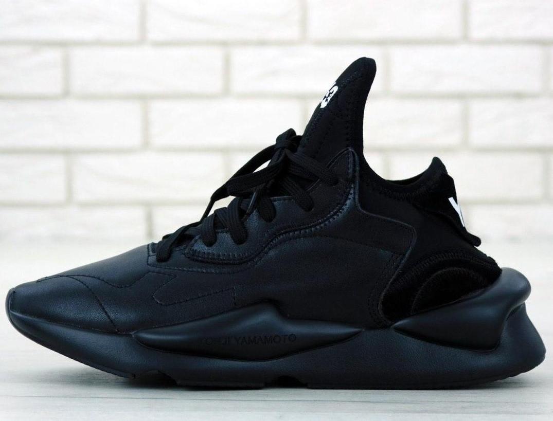 Кроссовки мужские Adidas Y-3 KAIWA черные (Top replic)