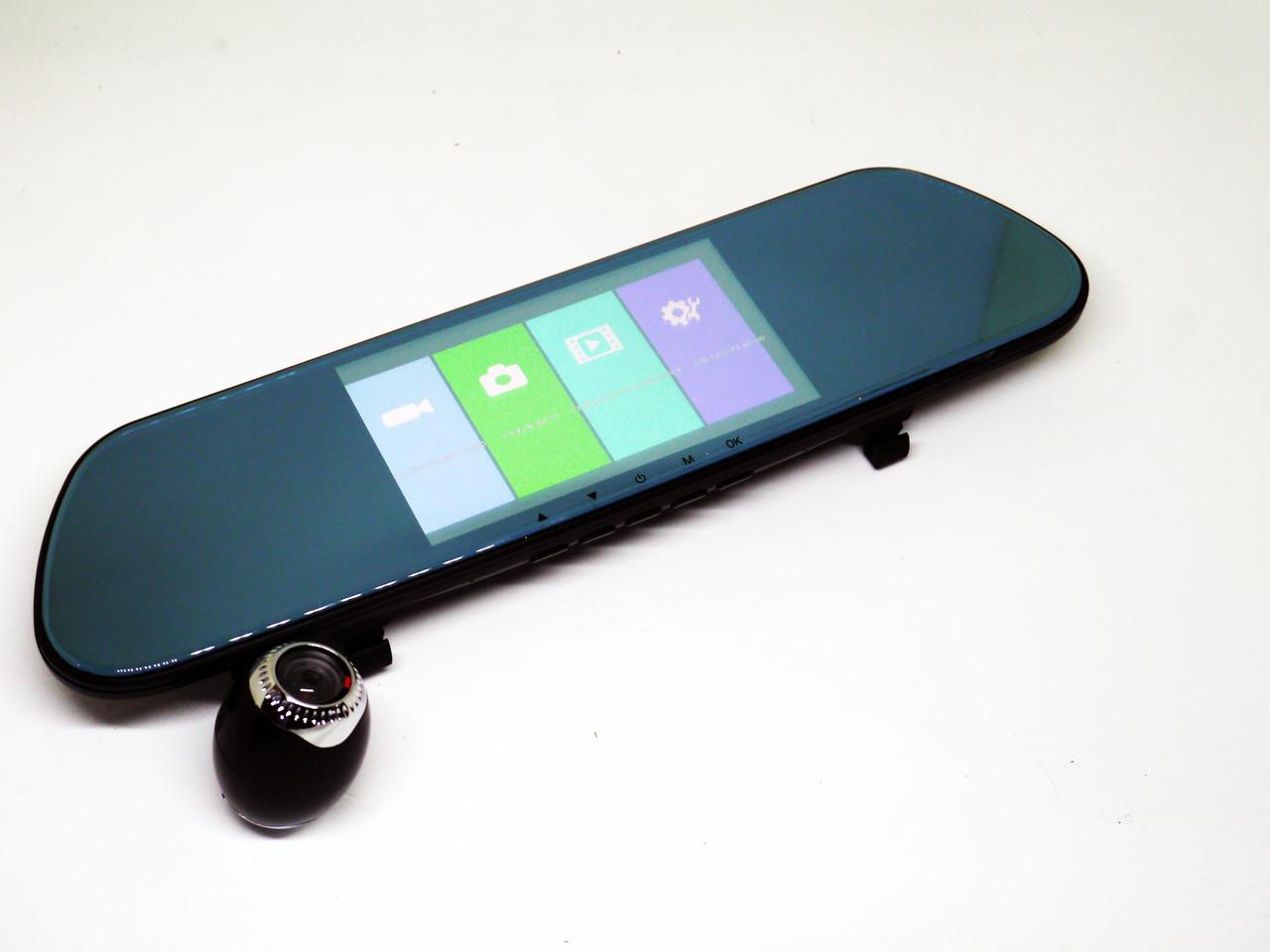 Зеркало заднего вида регистратор V9TP 3 камеры 5 дюймов