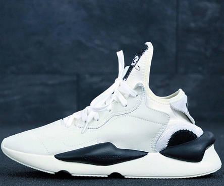 Кроссовки мужские Adidas Y-3 KAIWA белые (Top replic), фото 2