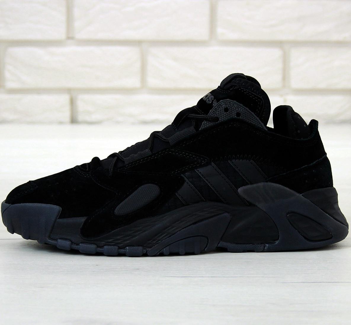 Кроссовки мужские Adidas Streetball черные (Top replic)