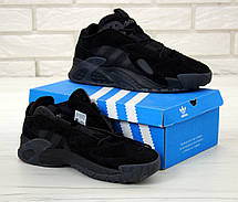 Кроссовки мужские Adidas Streetball черные (Top replic), фото 3