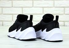 Кроссовки мужские Adidas Shark черные на белой подошве (Top replic), фото 3