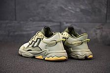 Кроссовки мужские Adidas Ozweego серые (Top replic), фото 2