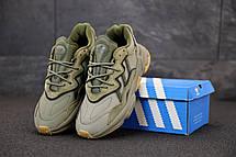 Кроссовки мужские Adidas Ozweego серые (Top replic), фото 3