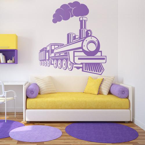 Трафарет поезда в детскую комнату 95 х 100 см