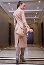 Элегантное повседневное платье миди, размеры от 42 до 48, эко-замша персикового цвета, фото 6