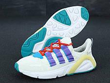 Кроссовки мужские Adidas Lexicon белые-синие (Top replic), фото 2