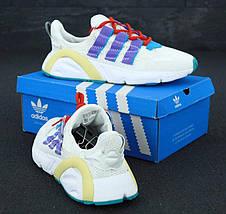 Кроссовки мужские Adidas Lexicon белые-синие (Top replic), фото 3