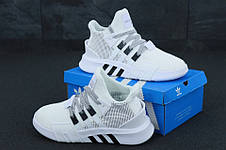 Кроссовки мужские Adidas EQT Bask ADV белые (Top replic), фото 3