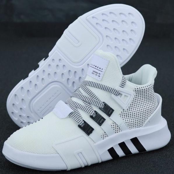 Кроссовки мужские Adidas EQT Bask ADV белые (Top replic)