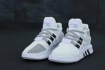 Кроссовки мужские Adidas EQT Bask ADV белые (Top replic), фото 2