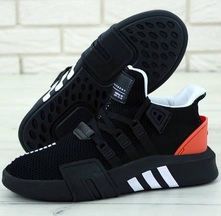 Кроссовки мужские Adidas EQT Bask ADV черные-красные (Top replic), фото 2