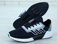 Кроссовки мужские Adidas Climacool черные-белые (Top replic), фото 3