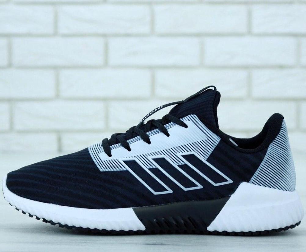 Кроссовки мужские Adidas Climacool черные-белые (Top replic)