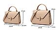 Большая модная сумочка в форме трапеции (0313-L) Белый, фото 4