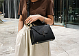 Большая модная сумочка в форме трапеции (0313-L) Белый, фото 9