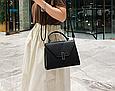 Большая модная сумочка в форме трапеции (0313-L) Белый, фото 8