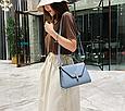 Большая модная сумочка в форме трапеции (0313-L) Белый, фото 10