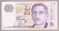 Банкнота Сингапура 2 доллара 2015 г. XF