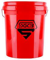 SGCB SGGD114 Ведро для мойки и полировки с сепаратором, красное (без крышки)