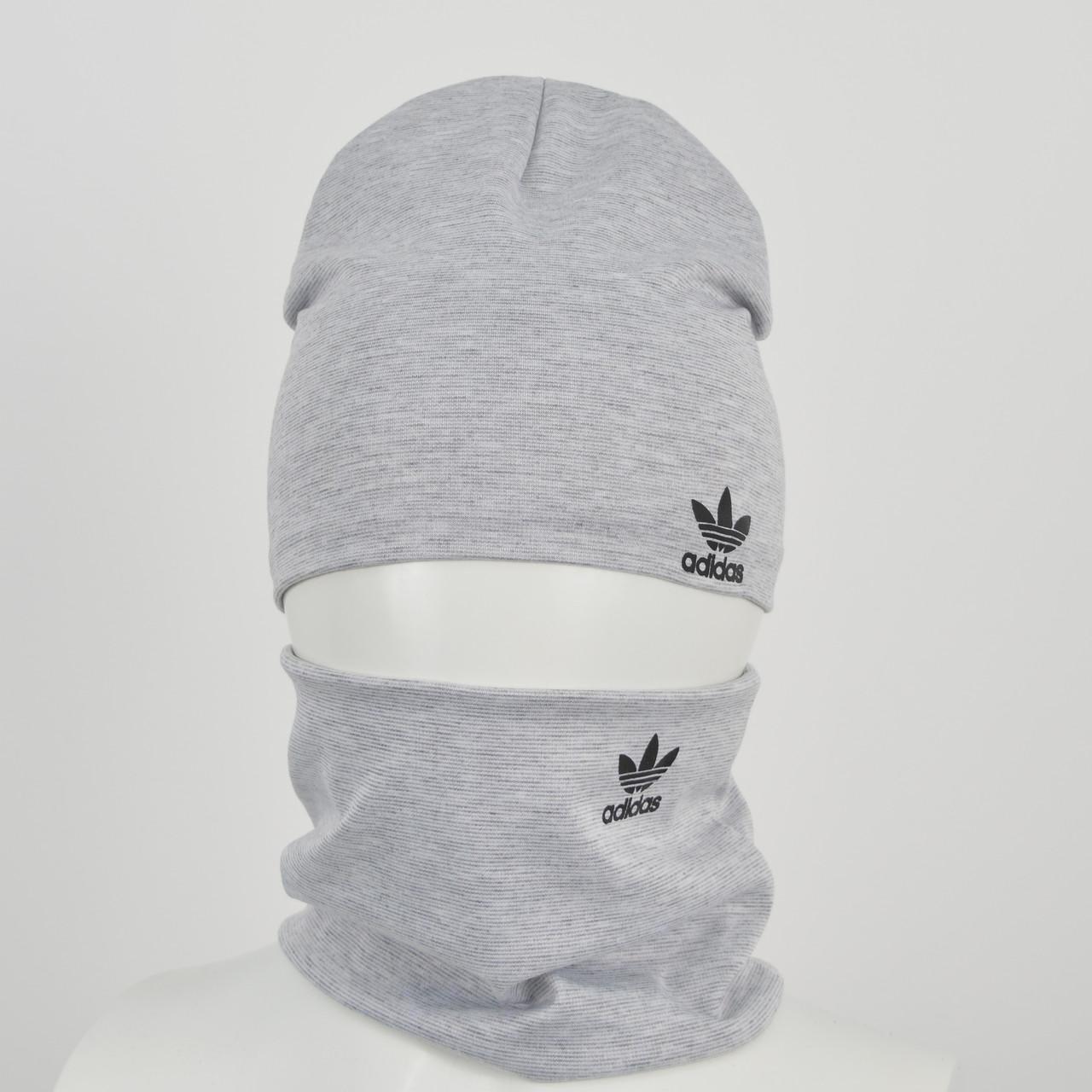 Трикотажный комплект Adidas (реплика) оптом св.серый
