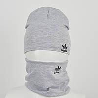 Трикотажный комплект Adidas (реплика) оптом св.серый, фото 1