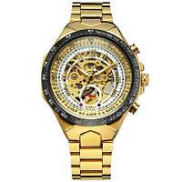 Winner 8067 Gold-Black-White Red Cristal Мужские наручные часы механические с автоподзаводом