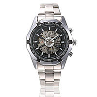 Winner TM340 Silver-Black-Silver Мужские наручные часы механические с автоподзаводом