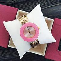 Baosaili Gold-Pink Женские часы наручные кварцевые золотые розовые