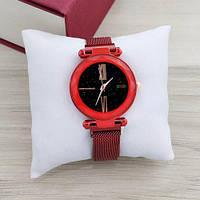 Geneva Red-Black Shine Часы женские наручные кварцевые стильные