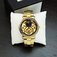 Forsining 8177 Gold-Black Часы мужские наручные механические с автоподзаводом