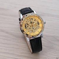Winner 8012 Diamonds Automatic Black-Silver-Gold Мужские наручные часы механические