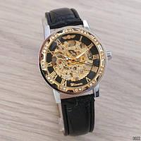 Winner 8012 Diamonds Automatic Black-Silver-Black Мужские наручные часы механические