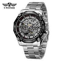 Winner 8186 Big Diamonds Silver Мужские наручные часы механические с автоподзаводом